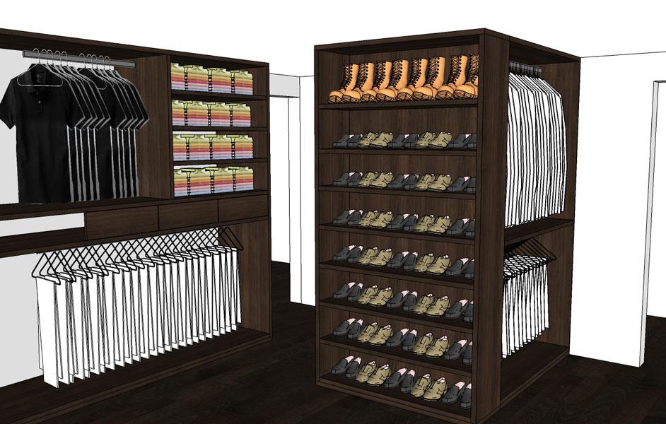 Vestidores y closets for Modelos de zapateras en closet